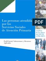 1161-Las personas atendidas por los Servicios Sociales de Atención Primaria- Perfil Social, Valoraciones y Recursos Aplicados. Análisis de los datos del SIUSS (1996-2007) (1)
