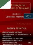 SESIÓN 01 SISTEMAS BLANDOS Conceptos Preliminares