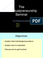 The Individualpreneurship Seminar