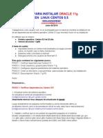 Instalacion Oracle Centos 5.5
