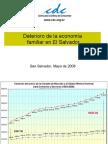 Deterioro de La Economia Familiar en El Salvador