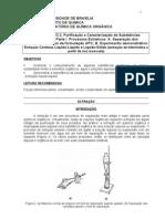 Purificacao Caracterizacao Substancias Organicas Parte ProcessosExtrativos