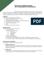 ITLP - Esquema de Presentación del Anteproyecto de Residencias Profesionales