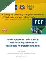 Lower Uptake of CDM in LDCs