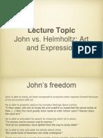 John, Helmholtz and Art