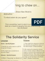 Questions for Analysing the Solidarity Service