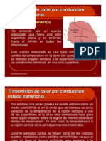 Transmisión de calor por conducción estado transitorio
