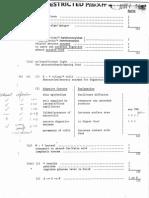1987 Biology Paper I Marking Scheme