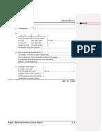 1998 Biology Paper I Marking Scheme