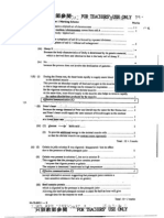 1999 Biology Paper I Marking Scheme