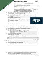 2001 Biology Paper I Marking Scheme
