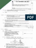 2003 Biology Paper I Marking Scheme