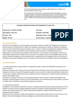 Programme Specialist (Children With Disabilities), P-4, DPP12005 - External Vacancy Announcement