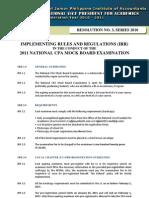 IRR National Mockboard Examination 12.22.10