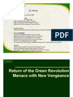 Green Revolution menace returns with a vengeance
