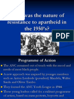 What Was the Nature of Resistance to Apartheid