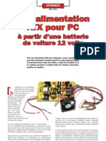 Alimentation PC à partir de 12v