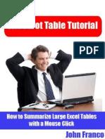 The Pivot Table Tutorial