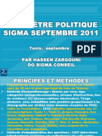 Baromètre politique Sigma Septembre 2011