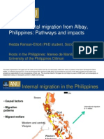 Environmental migration from Albay, Philippines