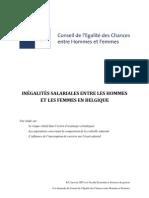 Inégalité salariale entre hommes et femmes en Belgique