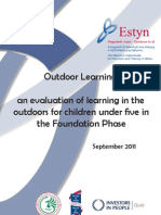 Outdoor Learning an Evaluation of Learning in the Outdoors for Children Under Five in the Foundation Phase - September 2011