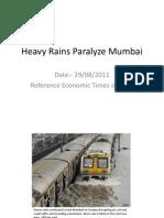Heavy Rains Paralyze Mumbai
