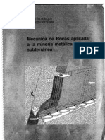 Mecánica de Rocas aplicada a la Minería Metálica Subterránea