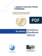AcademyStudentParentHandbook 2011-12Aug31