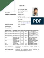 Resume (Pl. Breeder) SB Thawari