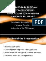 Contemporary Regional Geostrategic Issues
