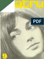 Revista Teatrul, nr. 9, anul XIII, septembrie 1968
