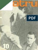 Revista Teatrul, nr. 10, anul XIII, octombrie, 1968