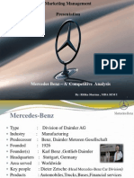 Mercedes India Competitive strategies