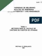 Métodos para el cálculo de los Puestos de Atraque_Escalante_Tema 5