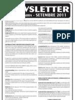 Newsletter SETEMBRE 2011