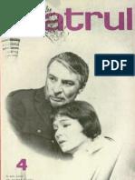 Revista Teatrul, nr. 4, anul XIV, aprilie 1969