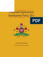 Integrated Agribusiness Development Policy 2011