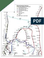 Bombay Suburban Trains Map