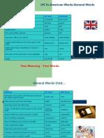 UK vs American Words-General Words