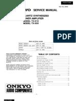 ONKYO TX910-930 Service Manual