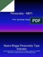 OB Session 4 - Personality - MBTI