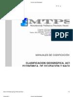 Manuales de Codificacion Inspeccion de Trabajo