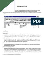 Using Microsoft Excel