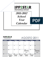 KIPP STAR Elementary 2011-12 Important Dates Calendar for Families (Espanol)