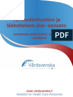 Finnish Healthcare and Medical Fields Glossary