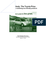 Prius Marketing Case Study