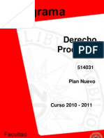 DERECHO PROCESAL I_2011