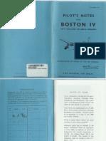 A-20 Boston IV Pilot Notes