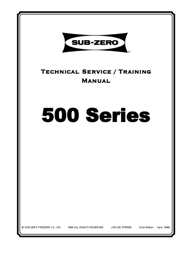 subzero service manual refrigerator mechanical fan rh scribd com sub zero refrigerator repair manual sub zero refrigerator manual 550
